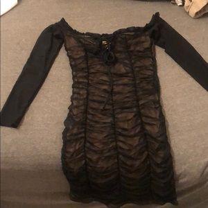 fashion nove lace body con dress